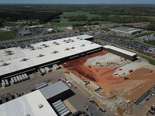Daimler Logistics Warehouse Under Construction