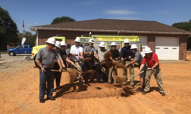 Groundbreaking held for Forbush fire station